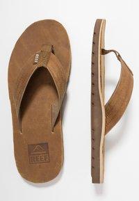 Reef - VOYAGE - T-bar sandals - brown/bronze - 1