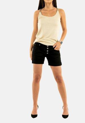 Denim shorts - noir