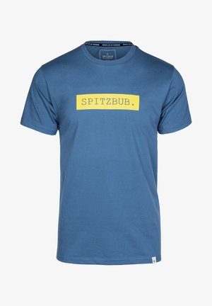 EBERHARDT - Print T-shirt - blue/yellow