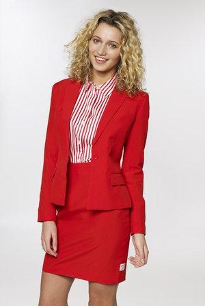 RED RUBY SET - Falda de tubo - medium red