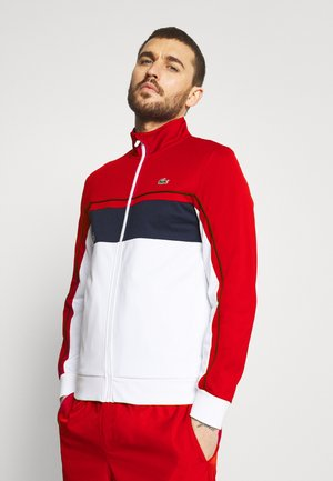 TENNIS JACKET - Verryttelytakki - ruby/white/navy blue/white