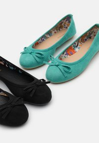 Anna Field - 2 PACK - Ballet pumps - mint/black - 6