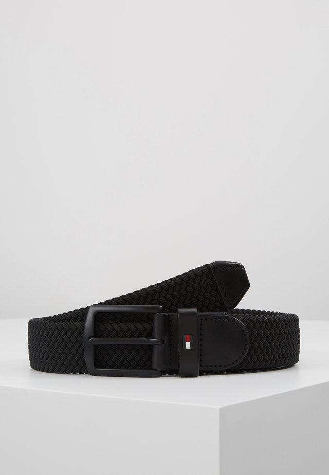DENTON ELASTIC - Braided belt - black