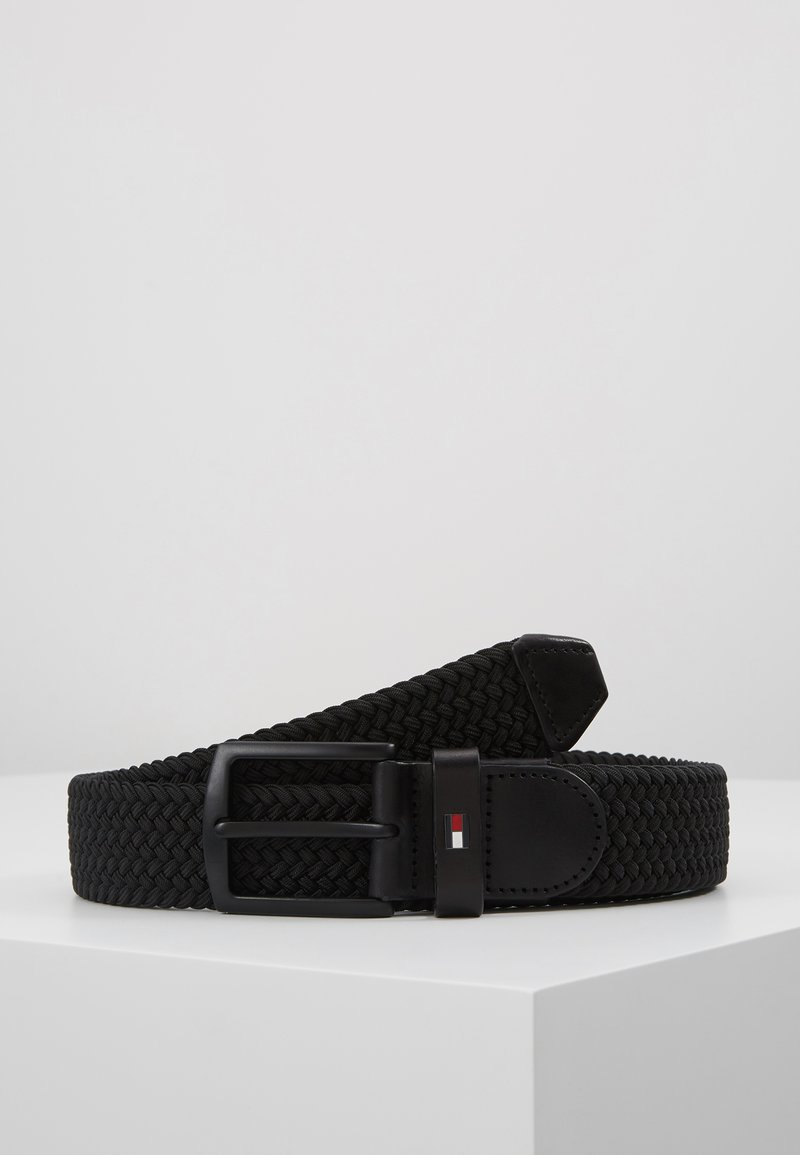 Tommy Hilfiger - DENTON ELASTIC - Braided belt - black