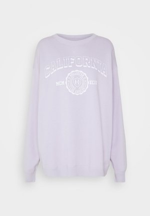 VINTAGE GRAPHIC CREW - Sweatshirt - purple