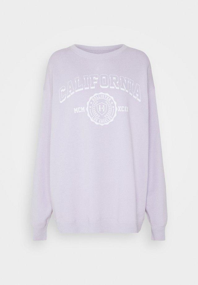VINTAGE GRAPHIC CREW - Sweatshirt - purple