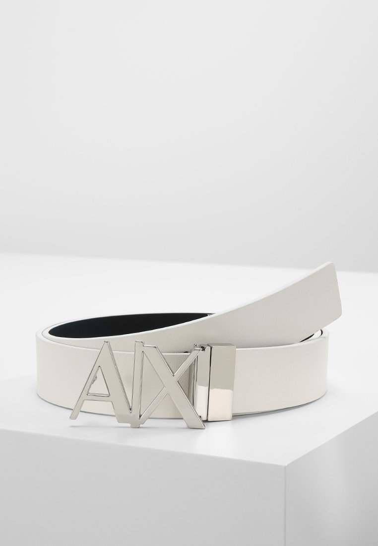 Armani Exchange - BELT - Belt - white/navy