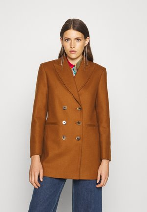THEODORE DOUBLE BREASTED - Classic coat - tan