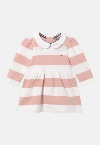 BABY RUGBY STRIPE DRESS - Vapaa-ajan mekko - pink