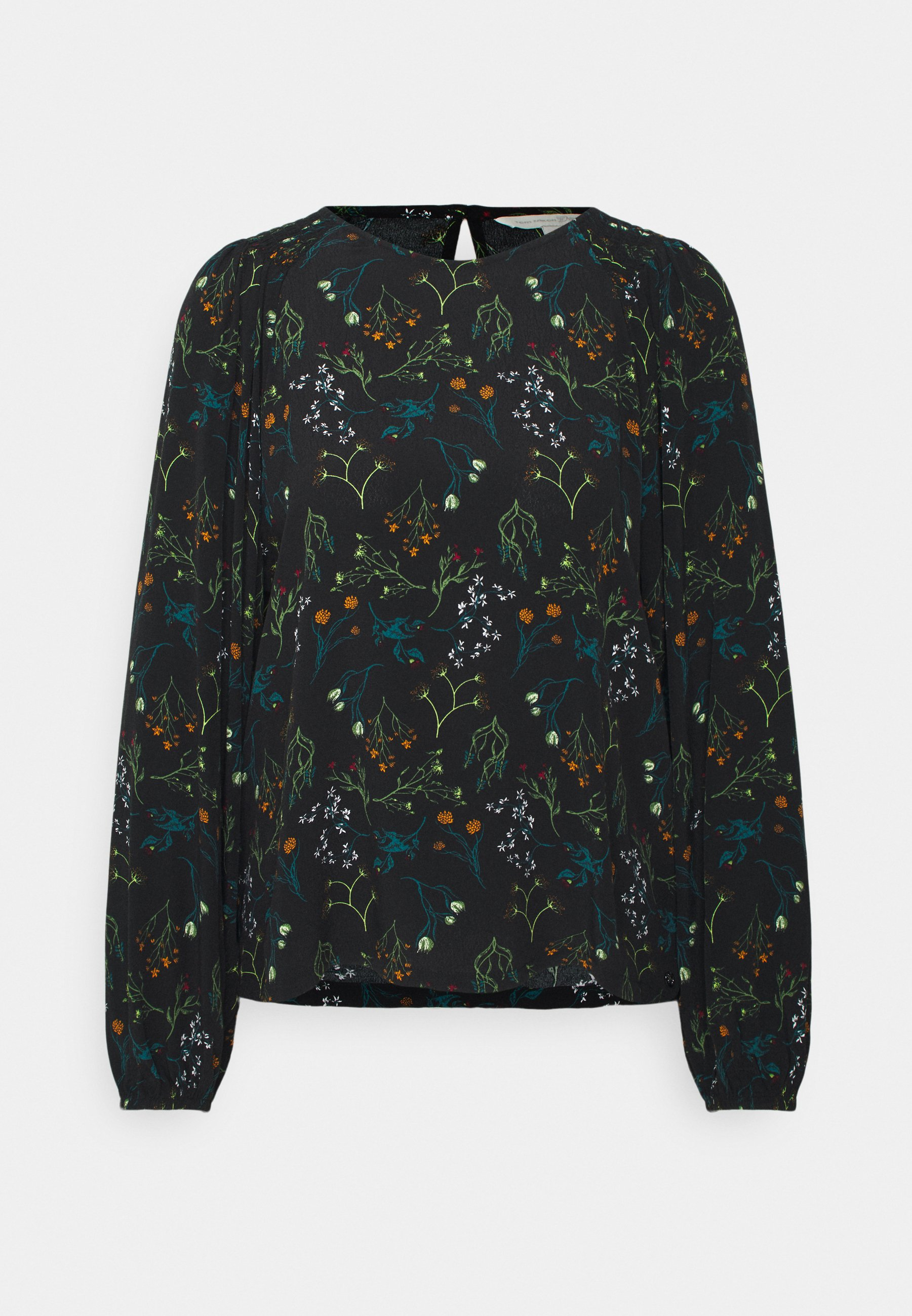 Women PRINTED BLOUSE WITH SMOCKING - Blouse