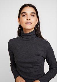 JDY - JDYCA MINI ROLLNECK  - Long sleeved top - dark grey melange - 4