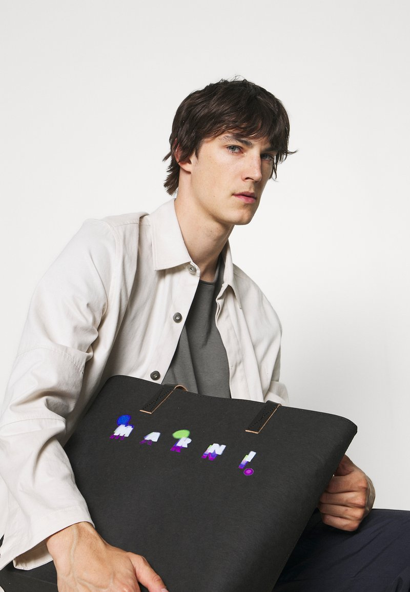 Marni - TRIBECA SHOPPING BAG UNISEX - Tote bag - black