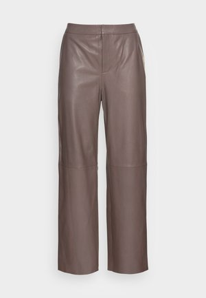 ELAH - Leather trousers - walnut
