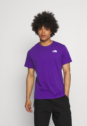DISTORTED LOGO - Print T-shirt - peak purple/black