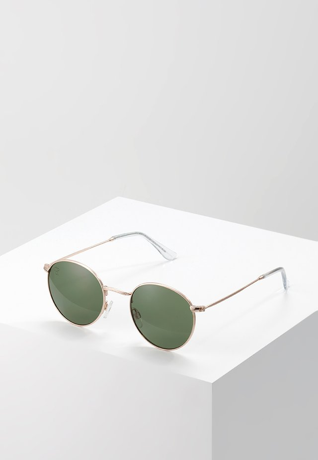 LIAM - Lunettes de soleil - gold-coloured/green