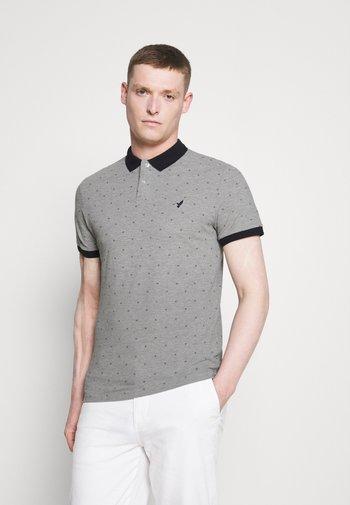 Polo shirt - mottled light grey
