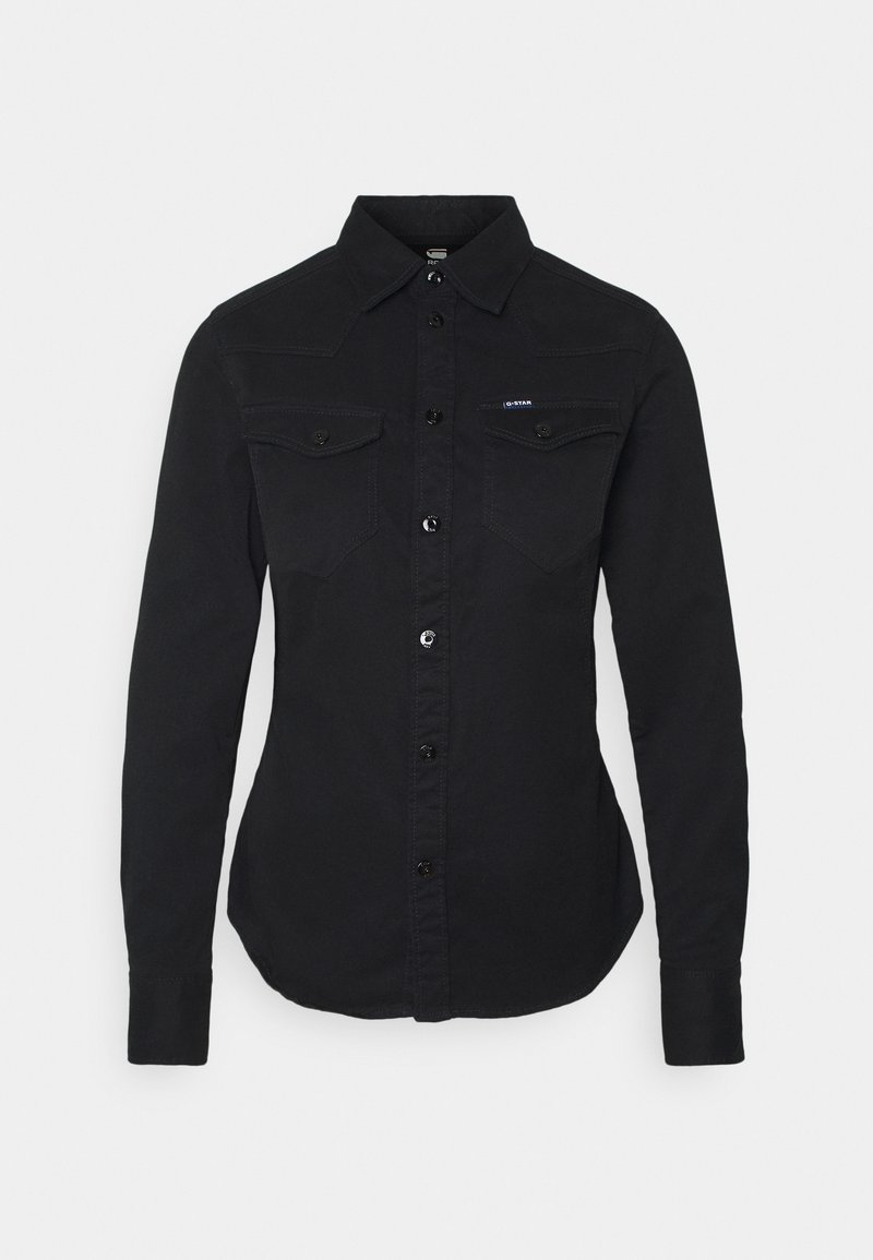 G-Star - WESTERN KICK BACK SLIM  - Overhemdblouse - dk black