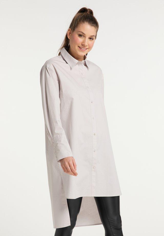 Košilové šaty - hellgrau