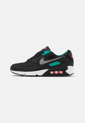 AIR MAX 90 UNISEX - Trainers - black /smoke grey /new green/pink