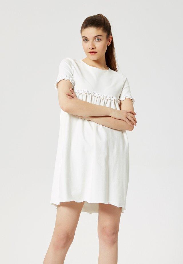 Sukienka z dżerseju - écru