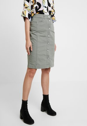 SLFLISE SKIRT - Pencil skirt - deep lichen green