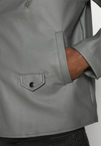 Nominal - HOODED BIKE JACKET - Faux leather jacket - grey - 6