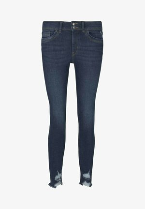 Jeans Skinny - used dark stone blue denim