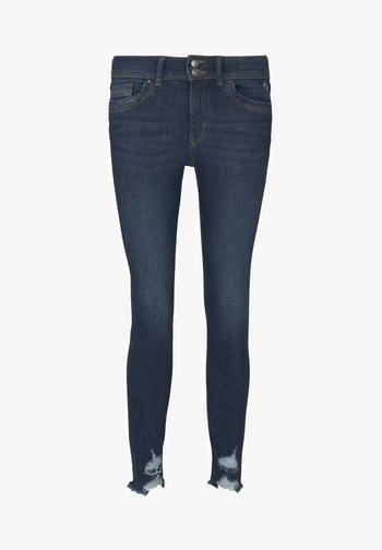 Jeans Skinny Fit - used dark stone blue denim