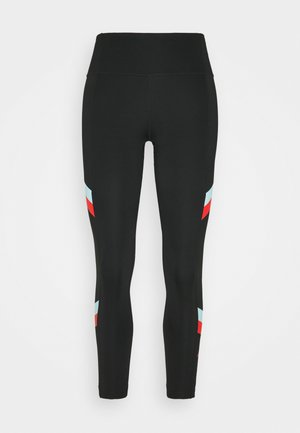 ONE STRIPE 7/8  - Leggings - black/chile red
