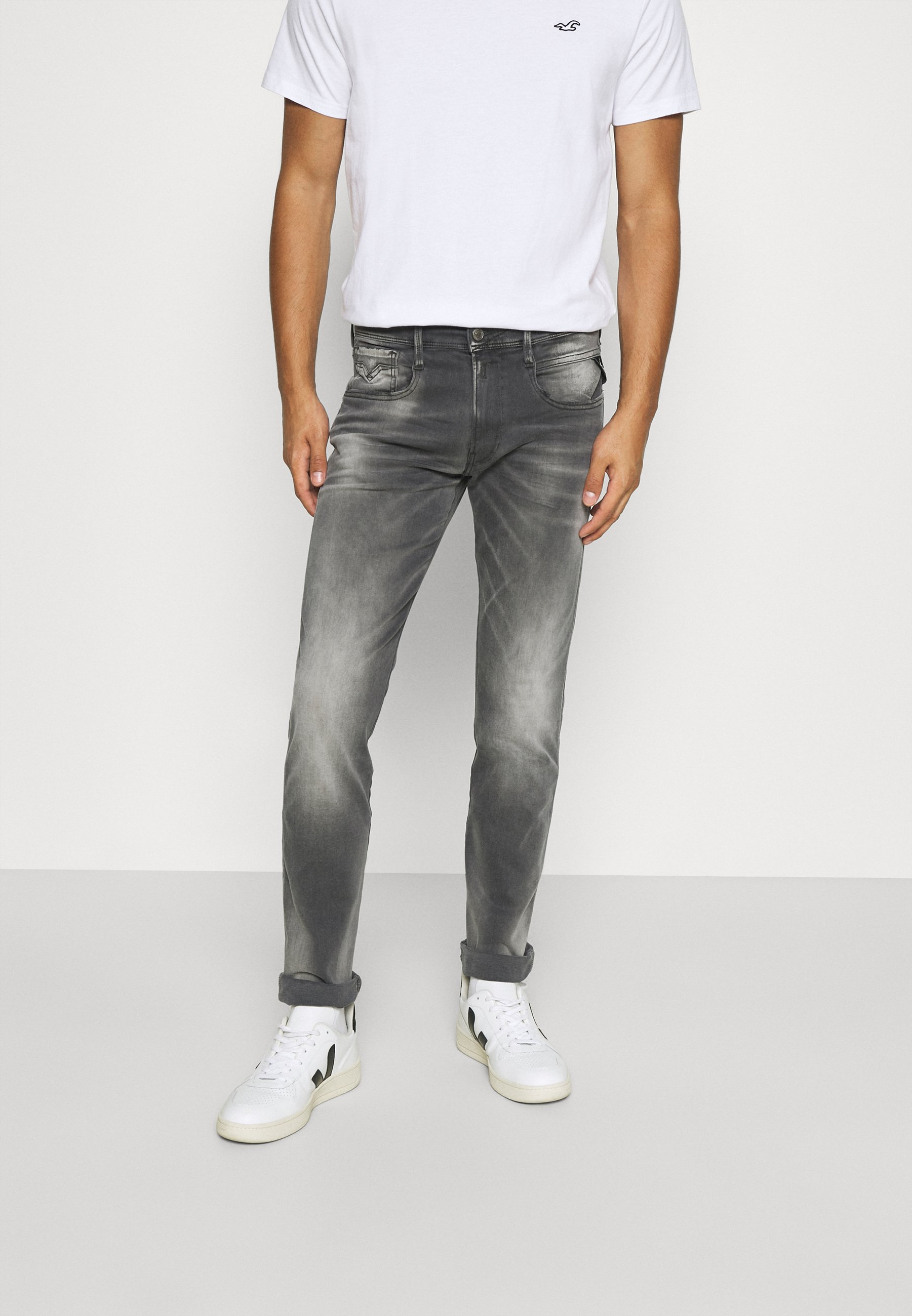 Uomo ANBASS WHITE SHADES - Jeans Tapered Fit