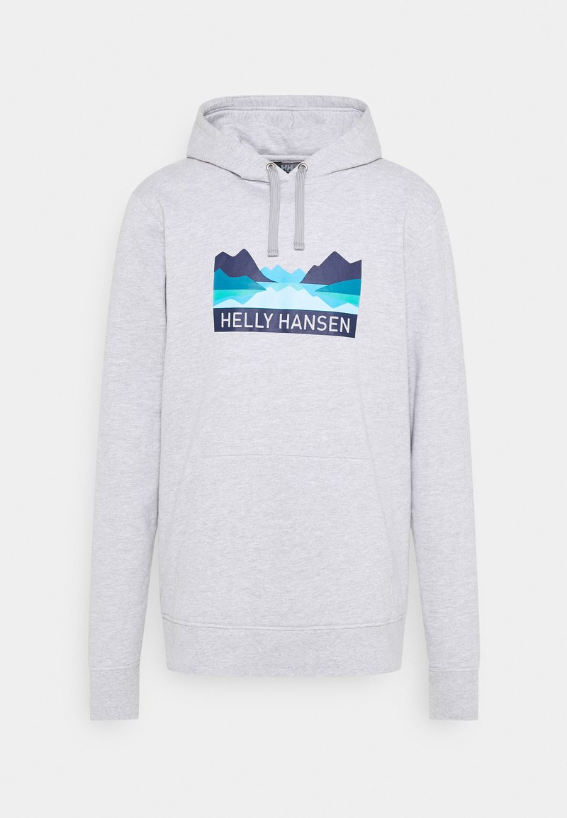 Helly Hansen - NORD GRAPHIC HOODIE - Sweatshirt - grey melange