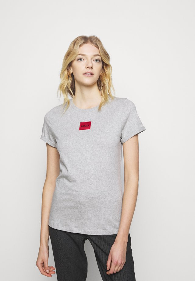 THE SLIM TEE - Triko s potiskem - grey melange