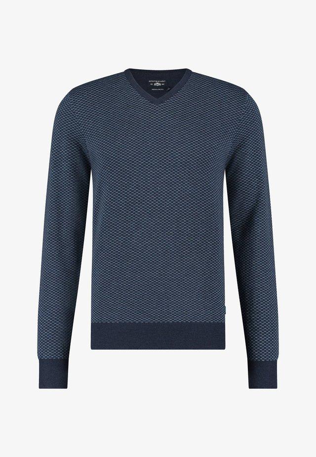 Trui - navy/grey blue