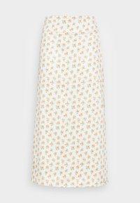 MOLTEN SKIRT - A-line skirt - ecru ditsy