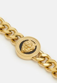 Guess - LION COIN CHAIN BRACELET UNISEX - Pulsera - gold-coloured/black - 2