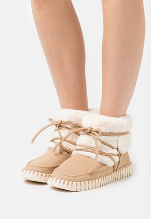 Lace-up ankle boots - latte
