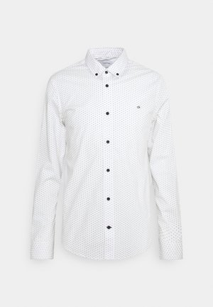 SLIM FIT STRETCH POPLIN MICRO - Shirt - bright white