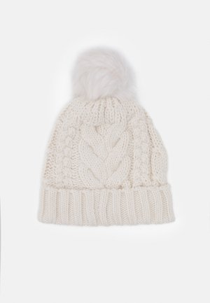 CABLE HAT - Čepice - soft ivory