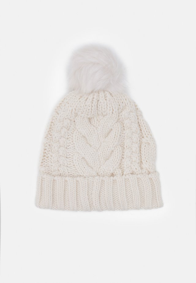 CABLE HAT - Mössa - soft ivory