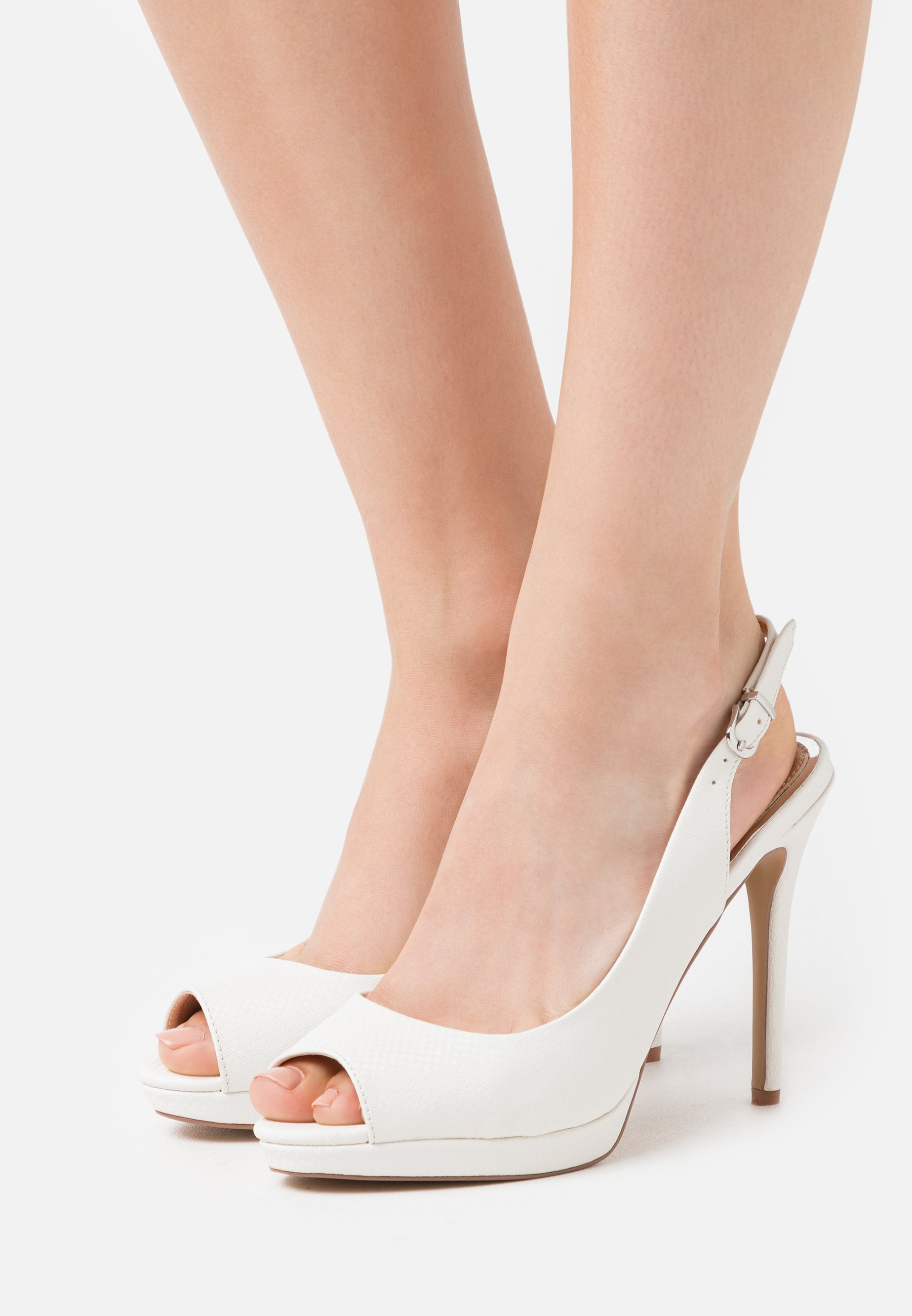 Lulipa London DALLAS - Peeptoes - white - Damesschoenen 2020 Nieuw