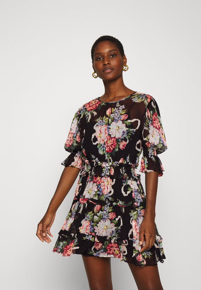 PRETTY THINGS MINI DRESS - Vapaa-ajan mekko - black