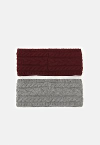Anna Field - 2 PACK - Čelenka - grey/bordeaux - 1