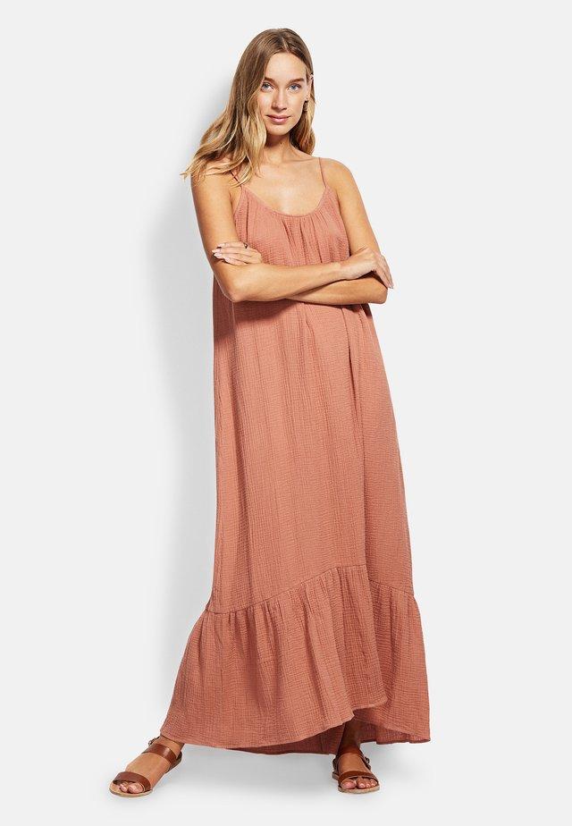 DOUBLE CLOTH MIDI SLIP - Beach accessory - faded rose