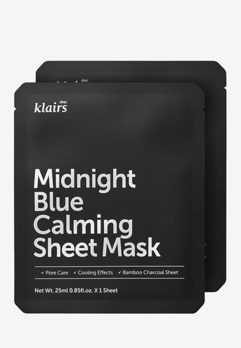 MIDNIGHT BLUE CALMING MASK 25ML 2 MASK PACK - Face mask - -