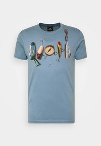 PS Paul Smith - MENS SLIM FIT COMPASS - Print T-shirt - light blue - 0