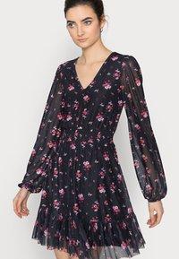 Even&Odd Tall - Day dress - black/multi-coloured - 3