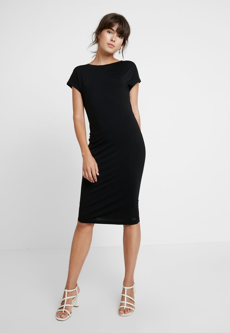 AMOV - ANE DRESS - Jerseyjurk - black