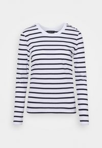 Selected Femme - SLFSTANDARD NEW TEE - Long sleeved top - maritime blue/bright white - 5