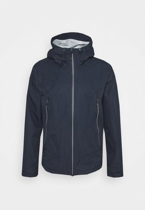 MAN FIX HOOD JACKET - Hardshell jacket - black blue