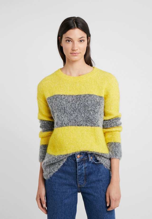 ROUNDNECK STRIPE - Pullover - yellow